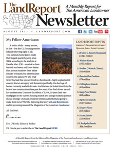 Land Report Newsletter August 2012