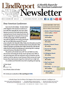 Land Report Newsletter December 2012