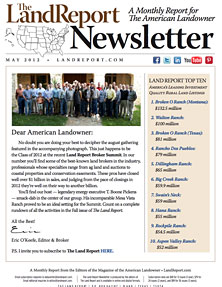 Land Report Newsletter May 2012