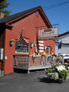 The farm's quaint country store on Main Street in picturesque Johnson, Vermont.