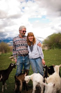 The Browns' Amaltheia Organic Dairy is nestled at the foot of Montana's Bridger Mountains.