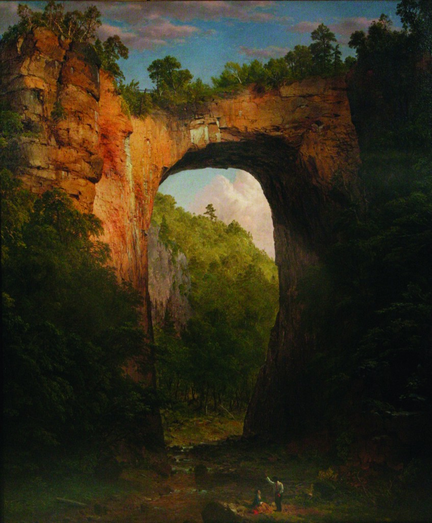 The Natural Bridge, Virginia, Frederic Edwin Church (1852) Courtesy of the University of Virginia Art Museum