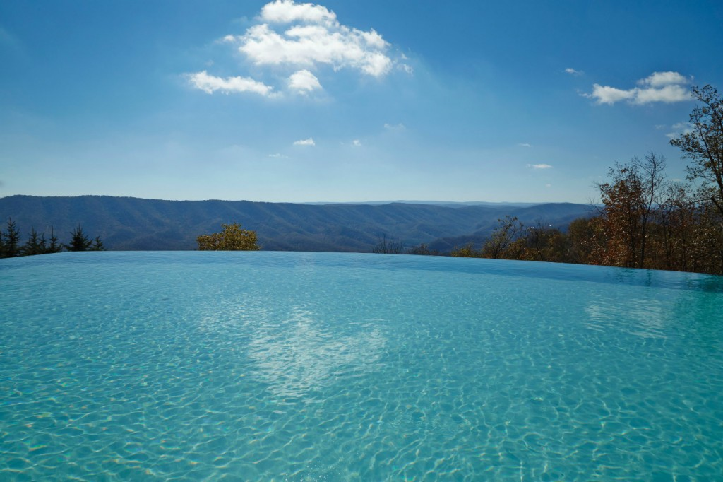 The infinity edge pool is just one of the many amenities at the Lodge, which recently enjoyed a complete renovation.