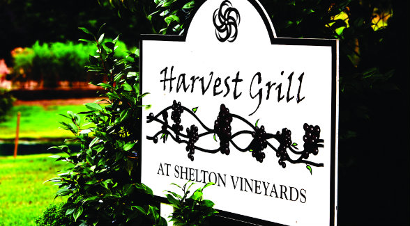 The best way to enjoy the Shelton's wines is at the winery's Harvest Grill.