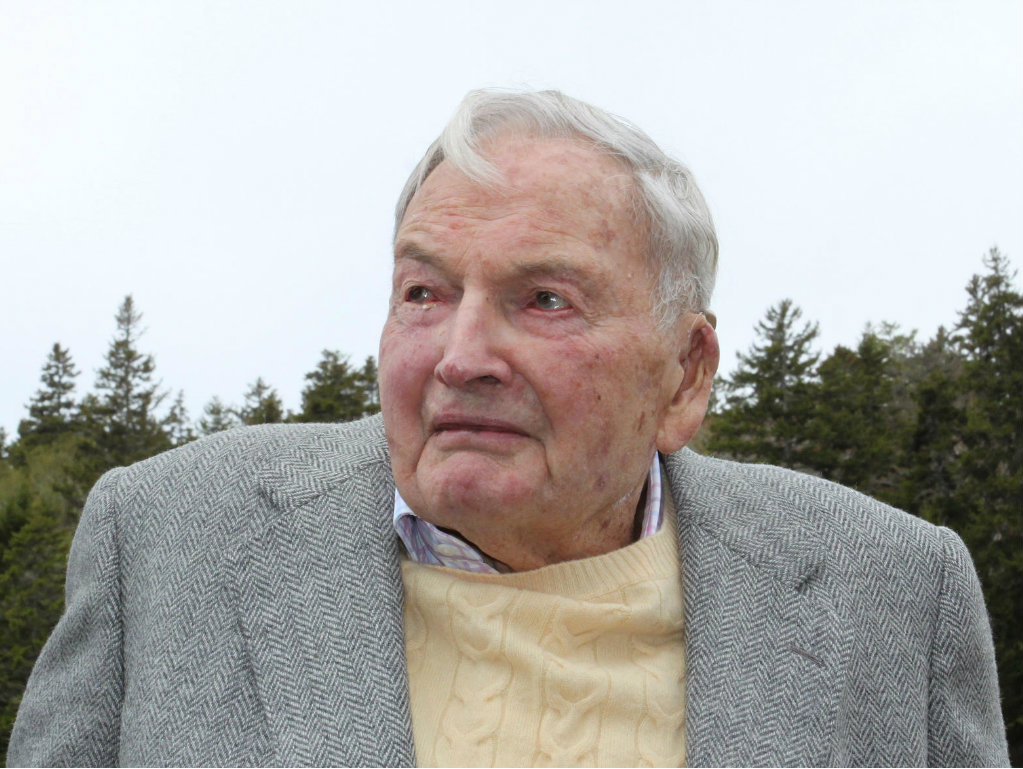 David Rockefeller is celebrating his centennial by donating 1,000 acres of fields, streams, and freshwater ponds in Maine to the Mount Desert Island...