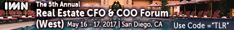 The 5th Annual Real Estate CFO  & COO Forum (West) held in San Diego, CA on May 16-17, 2017