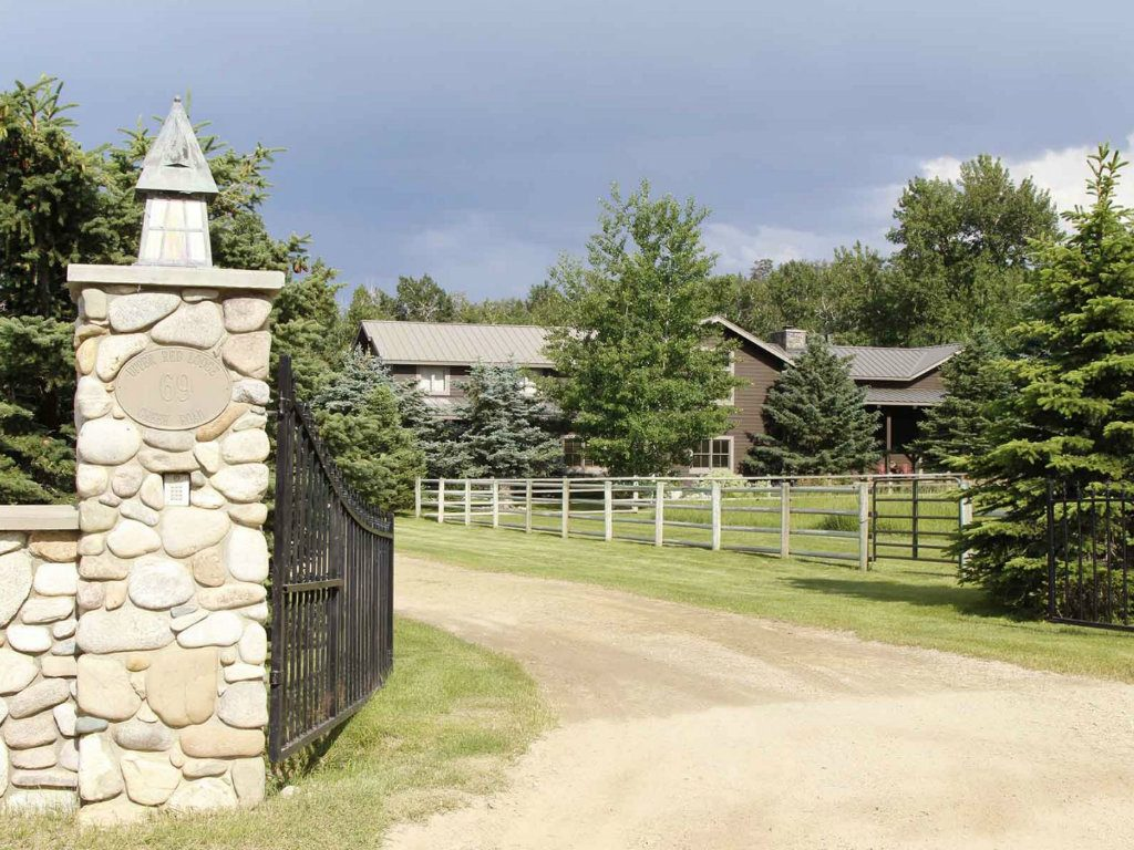 A 23-acre estate that includes a tributary of the Yellowstone River will be auctioned by Hall and Hall Auctions on August 30 at the property in Red...