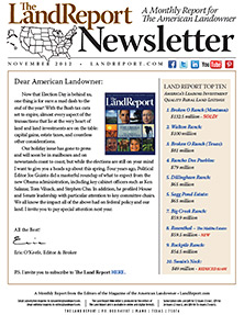 Land Report Newsletter November 2012