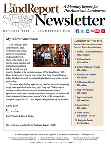 Land Report Newsletter October 2012