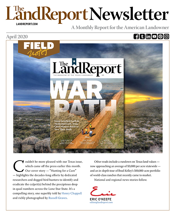 The Land Report newsletter April 2020