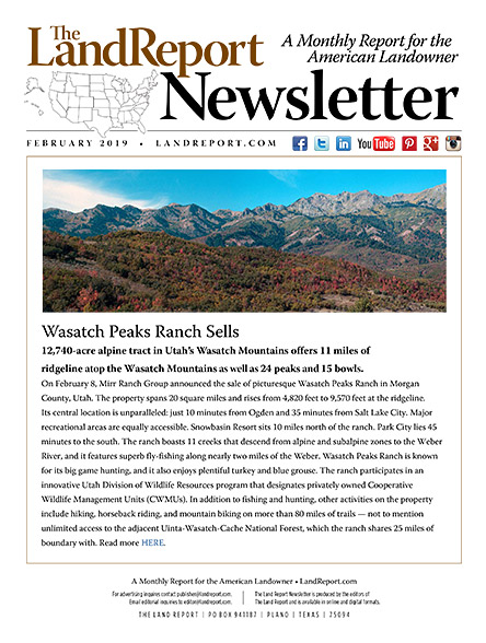 Land Report February 2019 Newsletter