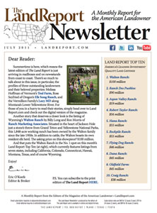 Land Report July 2011 newsletter