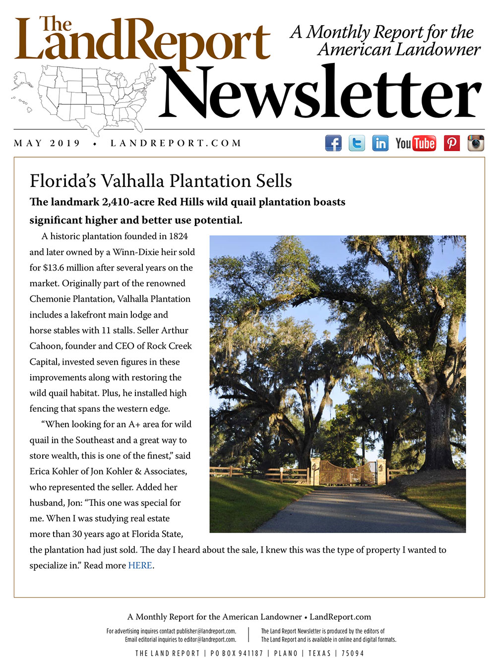 Land Report Newsletter May 2019