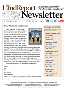 Land Report Newsletter November 2011