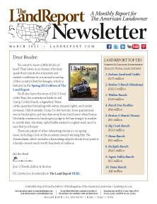 Land Report Newsletter March 2012 cover