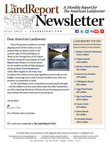 Land Report Newsletter July 2012