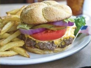 Ted's standing order is a bison cheeseburger with a side of fries, and it's always served with an Arnold Palmer.