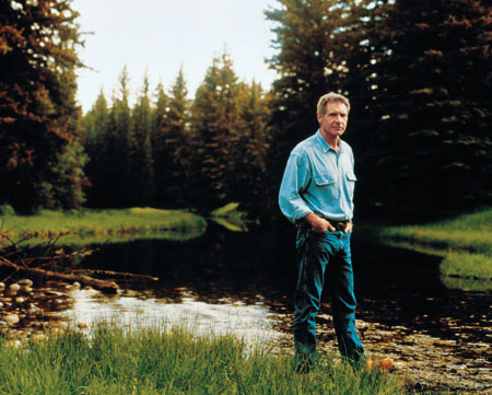 Ford shares his land with elk, bald eagles, and the occasional moose.