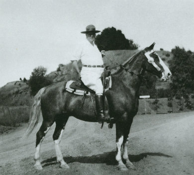 "According Victoria Kastner in ""Hearst Ranch,"" W.R. was an accomplished horseman who ""received secret pleasure from outriding his younger guests, many of whom were robust film stars, and some of whom had portrayed cowboys on screen."""