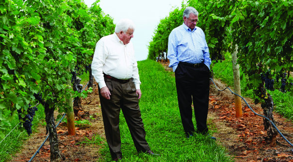 """When we broke ground in 1999, there was one other winery in the Yadkin Valley and a total of 12 in North Carolina. Now there are 38 wineries in the region and 120 in the state."" - Charlie Shelton, with his brother Ed"