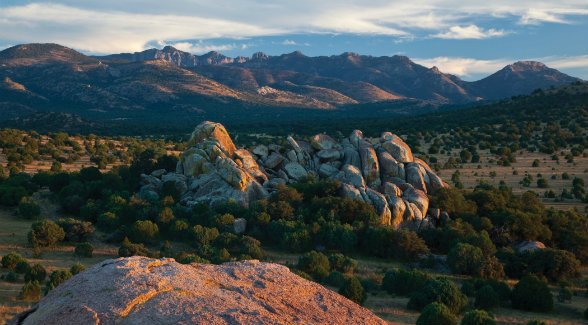 The formations that give the ranch its name lie scattered beneath the crest of the Davis Mountains.