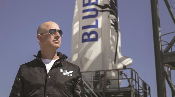 New Shepard has lifted off from Jeff Bezos's Corn Ranch, touched the edge of outer space, and returned to its launching pad three times. Commercial flights with paying passengers are planned as early as 2017.