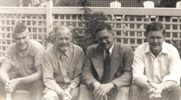 EARLY DAYS. Douglas Hall, Henry Hall Sr., Warren Hall, and Henry Hall Jr.