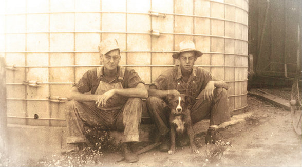 When I tell you farming is in my blood, I mean it. That's my grandfather, Warren Soules, on the left, and his brother Richard on our family farm.