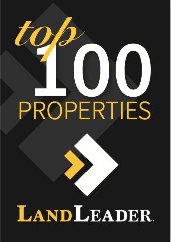 Land Report top 100 properties sponsored by LandLeader